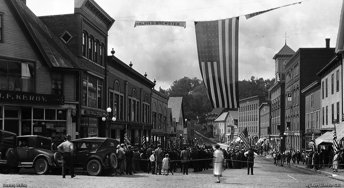 Historic Ralph O Brewster Political Rally, Main Street, Dexter, Maine