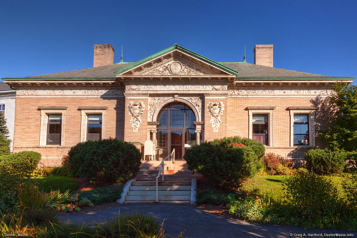 The Abbott Memorial Library in Dexter, Maine