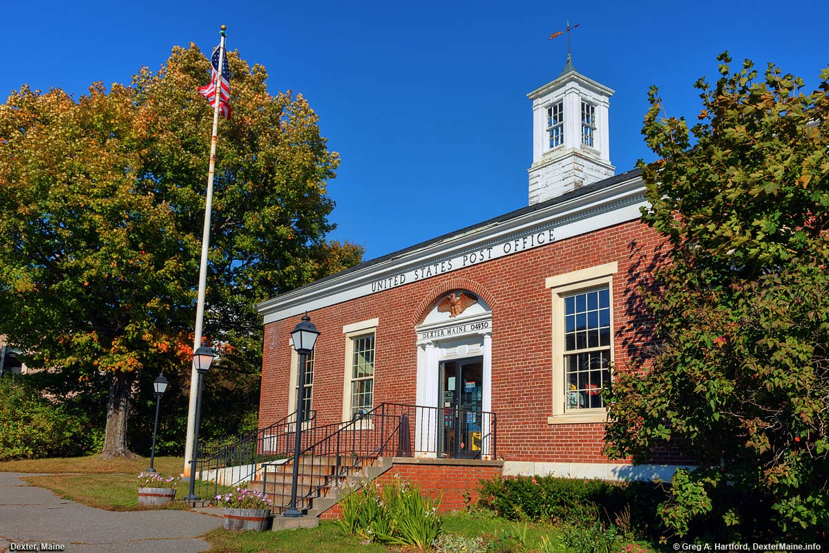 United States Post Office in Dexter, Maine