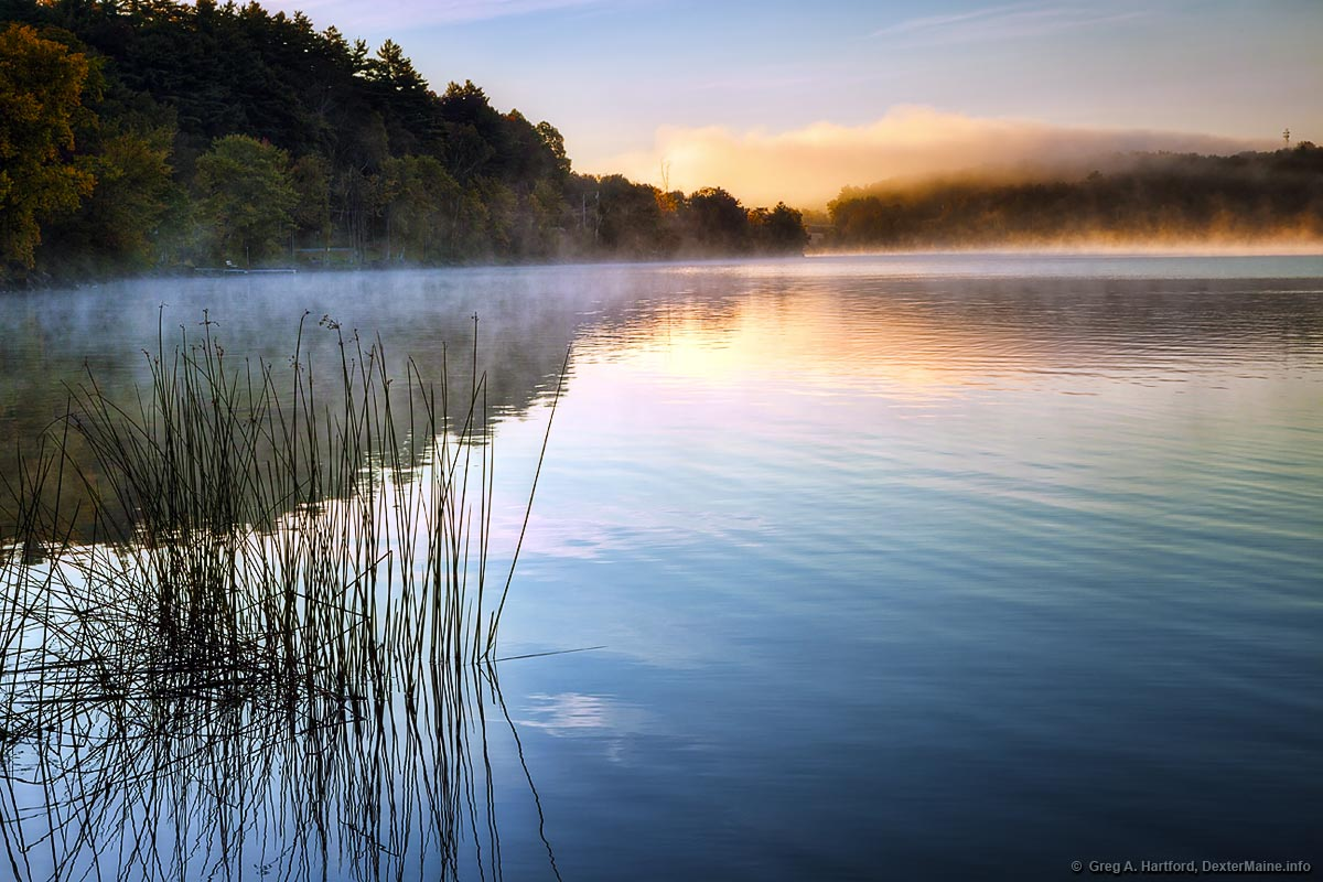 Morning Mist on Lake Wassookeag in Dexter, Maine