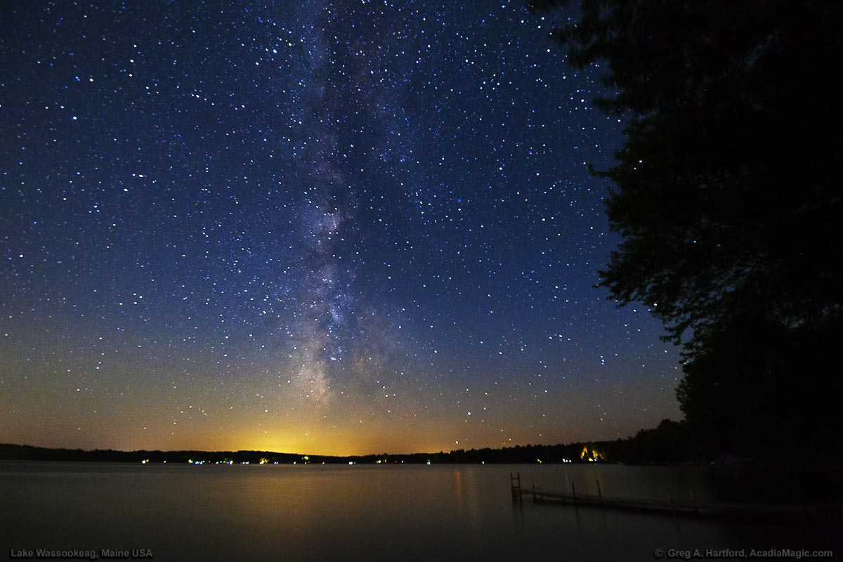 Stars & Milky Way over Lake Wassookeag