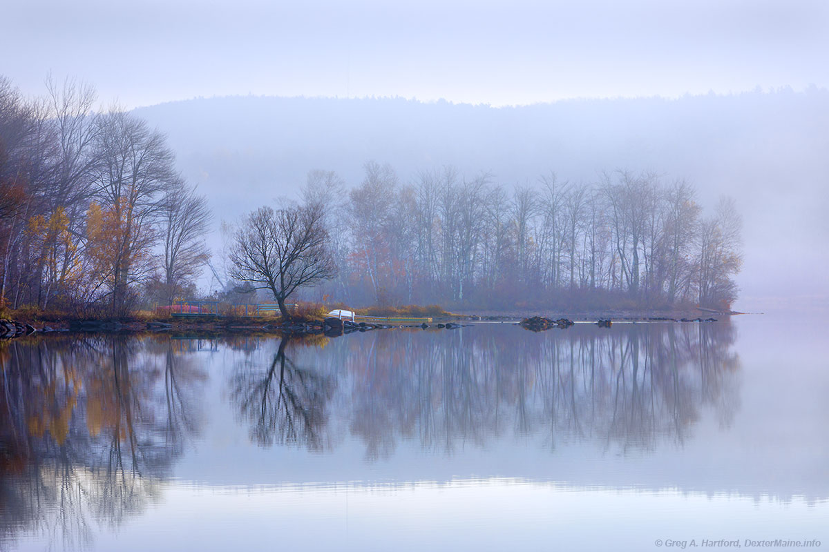 Serene Morning on Lake Wassookeag in Dexter, Maine