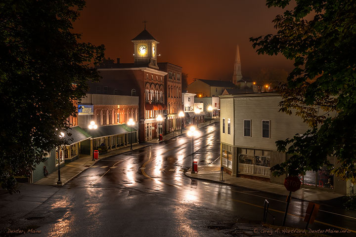 After Midnight on Main Street in Dexter, Maine