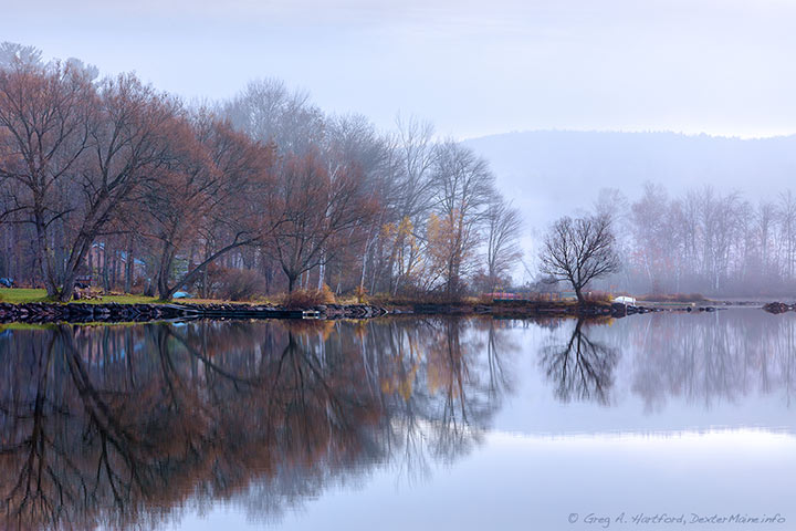 This was a very calm November 1st morning on Little Lake Wassookeag in Dexter, Maine