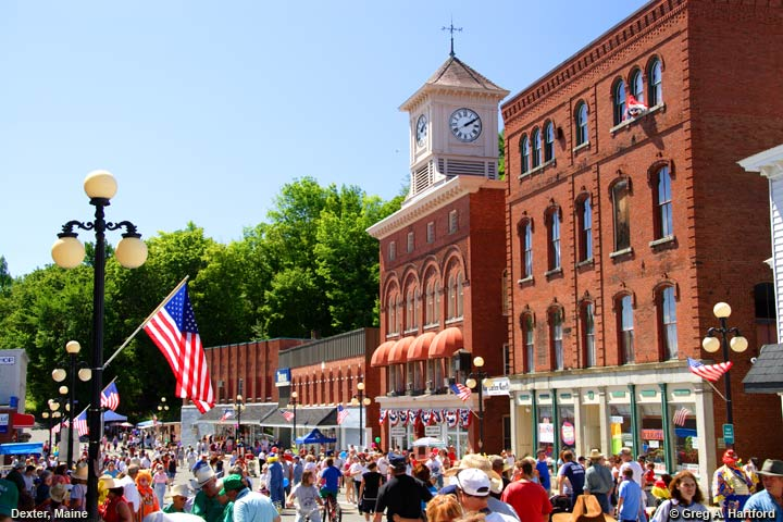 Celebration in Dexter, Maine