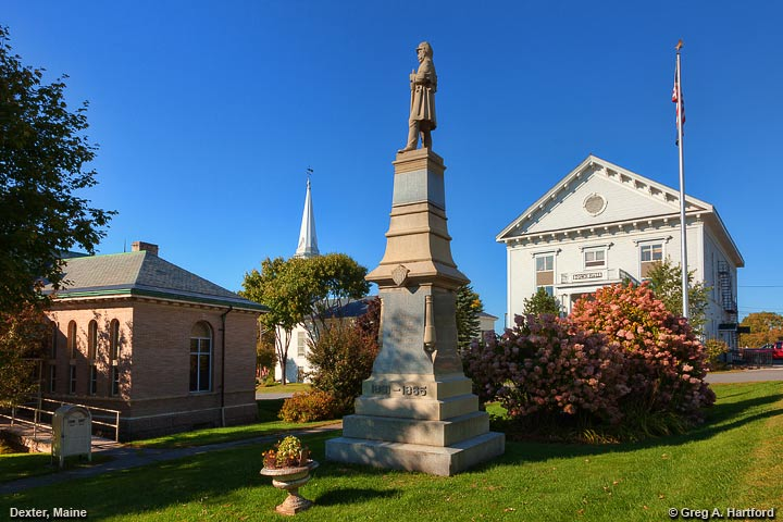 Civil War Monument in front of Town Hall