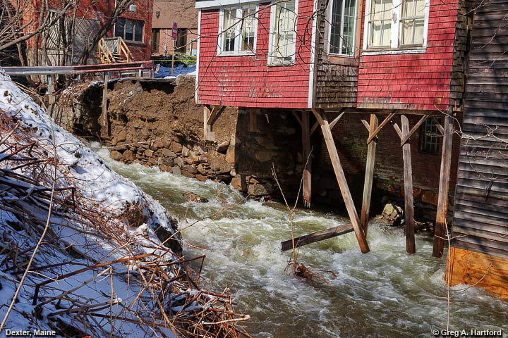Water damage done to Old Grist Mill building