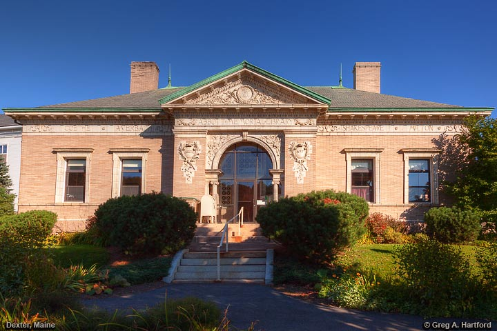 Abbott Memorial Library in Dexter, Maine
