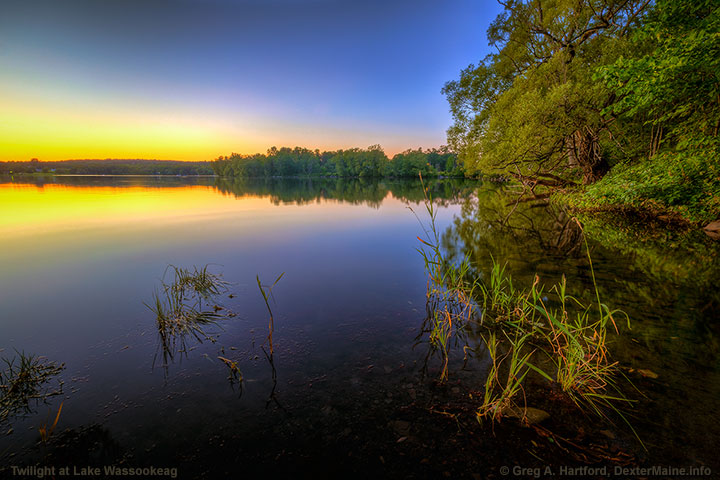 Another twilight landscape at Lake Wassookeag in Dexter, Maine